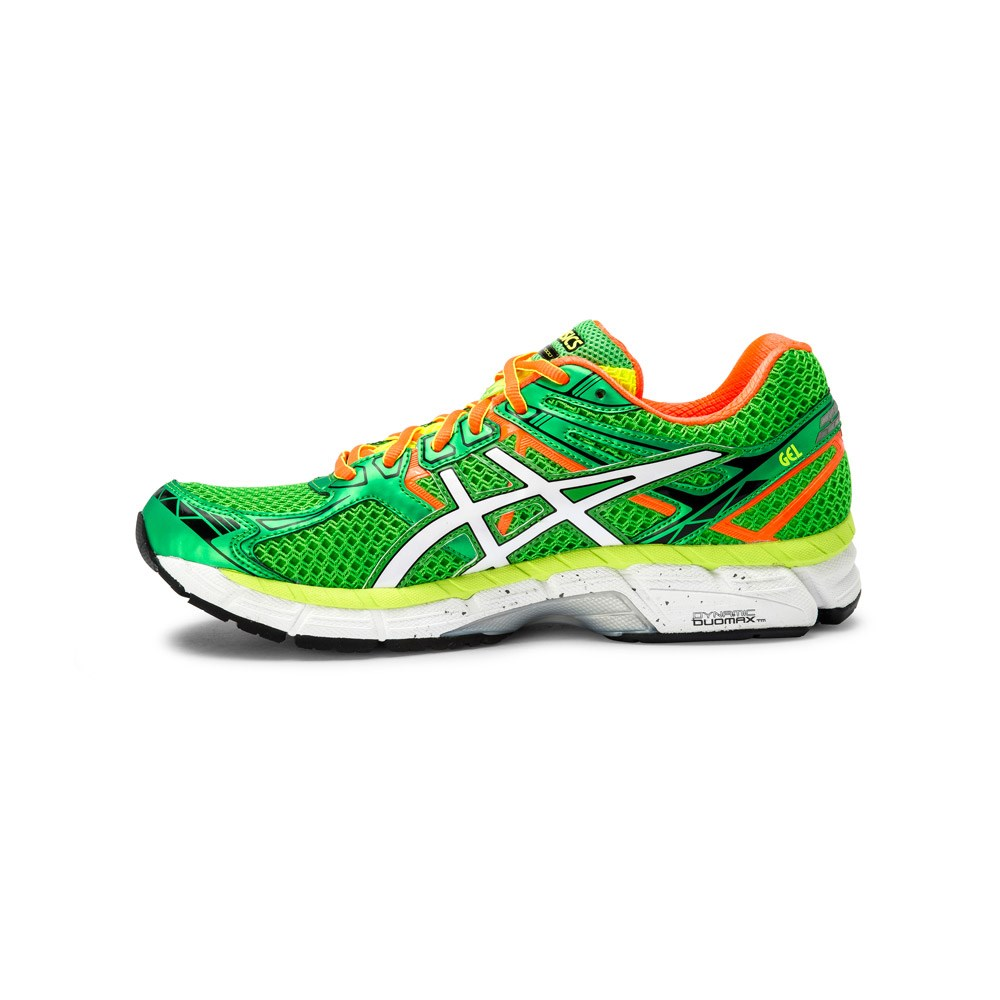asics gt 2000 2 mens running shoes green yellow orange. Black Bedroom Furniture Sets. Home Design Ideas