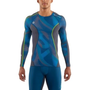 Skins DNAmic Mens Compression Long Sleeve Top + Free Gym Bag