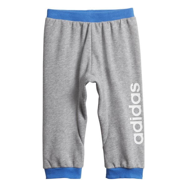 Adidas Linear Toddler Boys Track Pants - Medium Grey Heather/True Blue/White