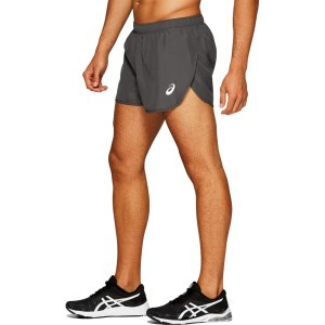 Asics Silver Split 2.5 Inch Mens Running Shorts