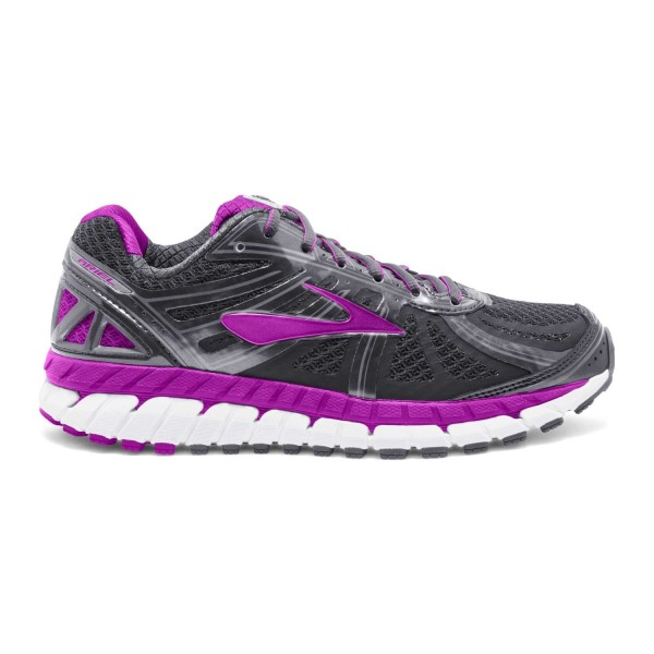 Brooks Ariel 16 - Womens Running Shoes - Anthracite/Purple Cactus Flower/Primer Grey