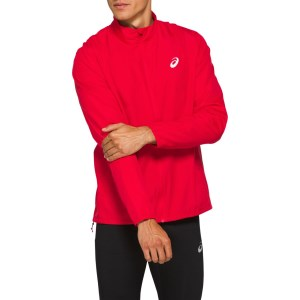 Asics Silver Mens Running Jacket