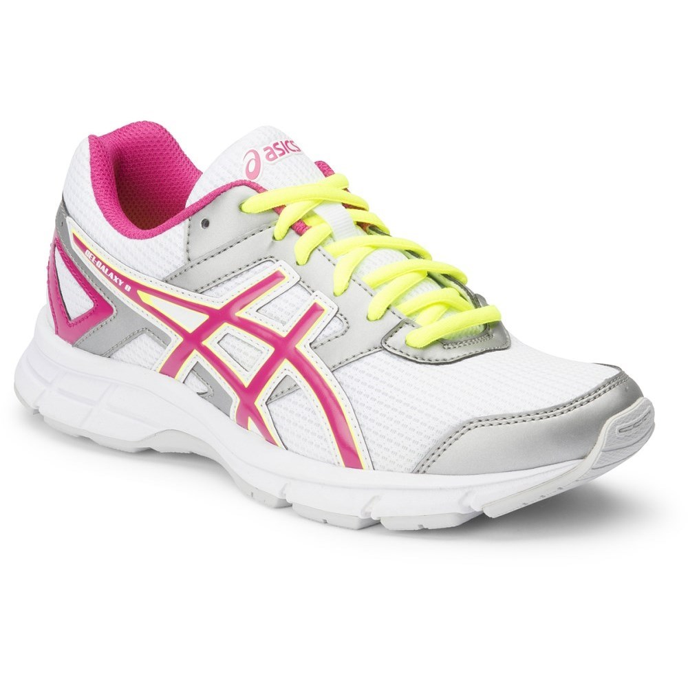 88d94bfdecee Asics Gel Galaxy 8 GS - Kids Girls Running Shoes - White/Hot Pink ...