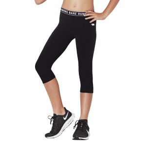Running Bare Logo Kids Girls 3/4 Training Tights