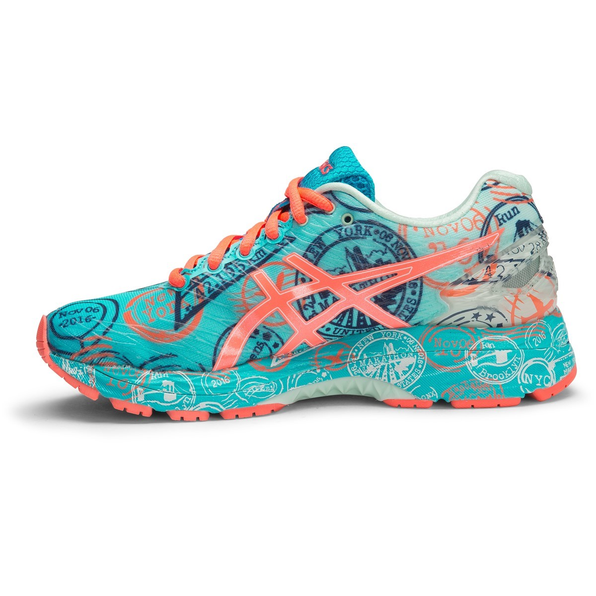 asics gel nimbus 18 nyc limited edition womens running. Black Bedroom Furniture Sets. Home Design Ideas