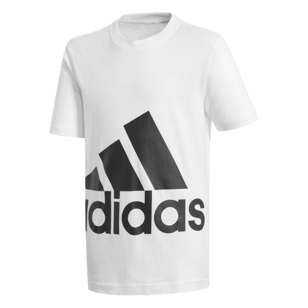 Adidas Essentials Big Logo Kids Boys Casual T-Shirt - White/Black