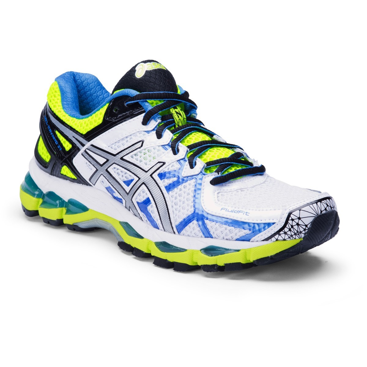 72ae8679c8bce Asics Gel Kayano 21 - SIZE 7US ONLY - Womens Running Shoes - White/Lightning