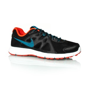 1c0bf1074720b Nike Revolution 2 MSL - Mens Running Shoes - Black Blue Lagoon Orange ...