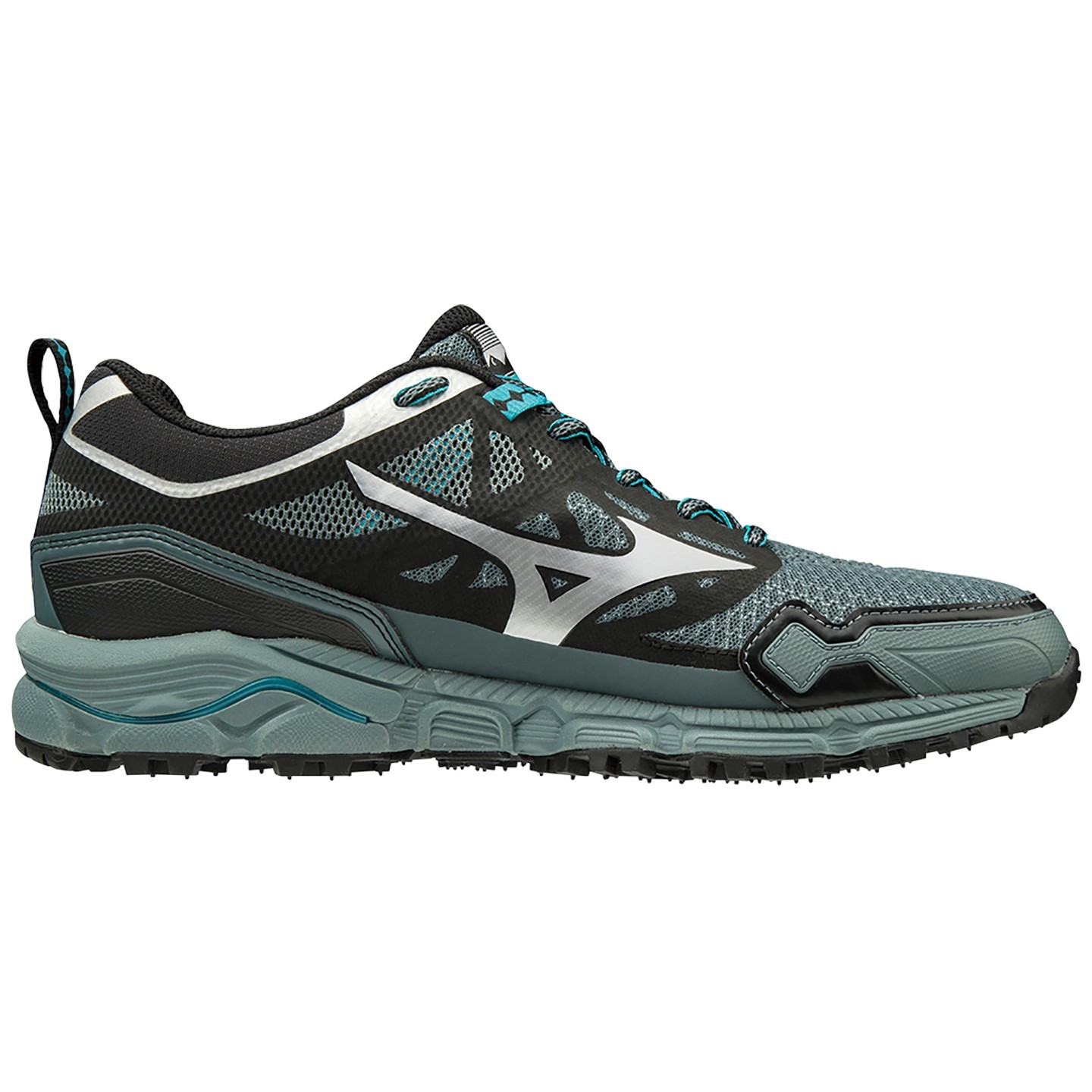 584559deb11e Mizuno Wave Daichi 4 - Mens Trail Running Shoes - Stormy Weather/Peacock  Blue