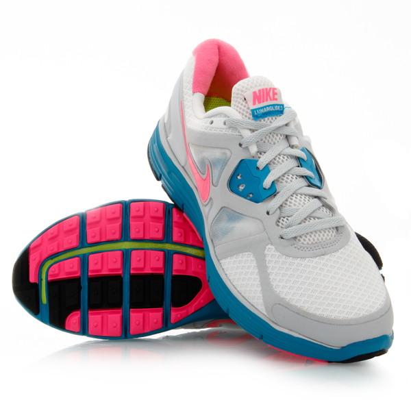 1242f162a2c4 ... shopping nike lunarglide 3 womens running shoes white grey pink blue  e1fcd c1790