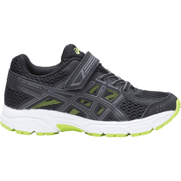 Asics Contend 4 PS - Kids Boys Running Shoes - Black/Neon Lime