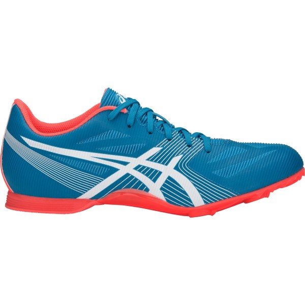 Asics Hyper MD 6 - Unisex Middle Distance Track Spikes - Island Blue/White/Flash Coral