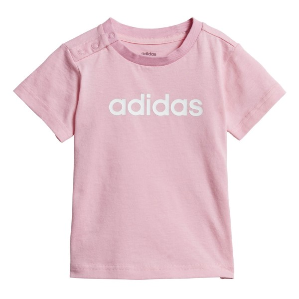 Adidas Linear Toddler Girls Casual T-Shirt - Light Pink/White