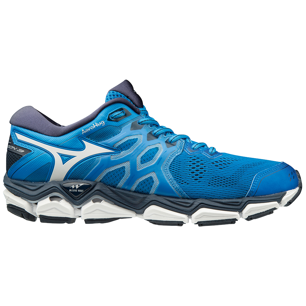 Mizuno Wave Horizon 3 - Mens Running Shoes - Brilliant Blue Cloud ... 9dd710b1fe3