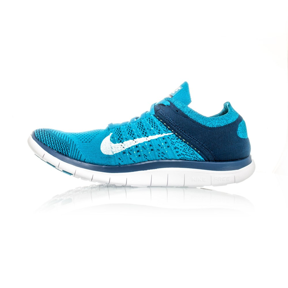 nike free flyknit 4 0 mens running shoes neo turquoise navy white online sportitude. Black Bedroom Furniture Sets. Home Design Ideas