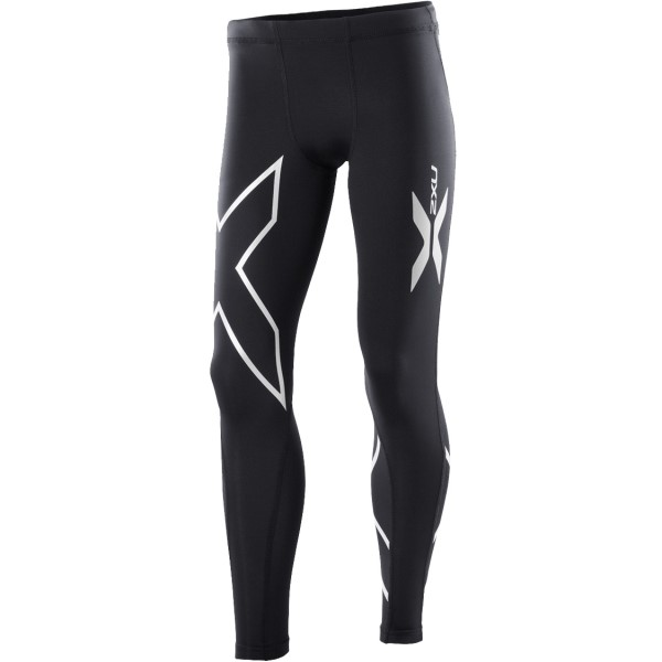 2XU Kids Boys Compression Long Tights - Black/Silver