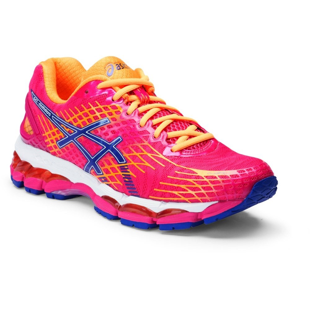 asics gel nimbus 17 womens running shoes hot pink deep. Black Bedroom Furniture Sets. Home Design Ideas