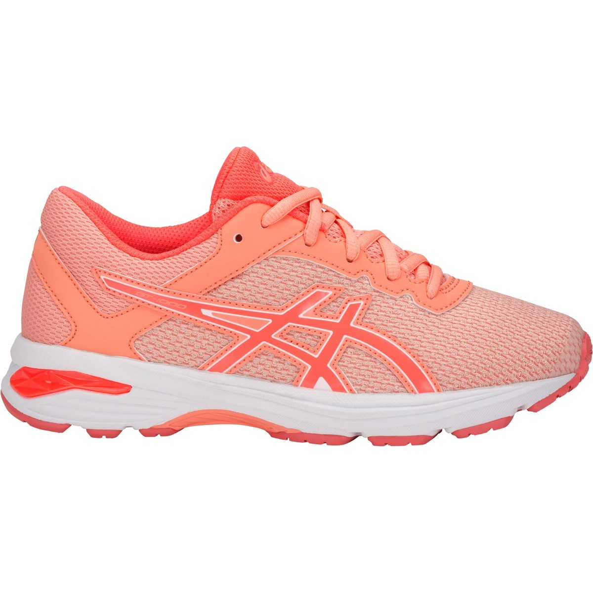 cff63302a4c9 Asics GT 1000 6 GS - Kids Girls Running Shoes - Apricot Ice Flash Coral