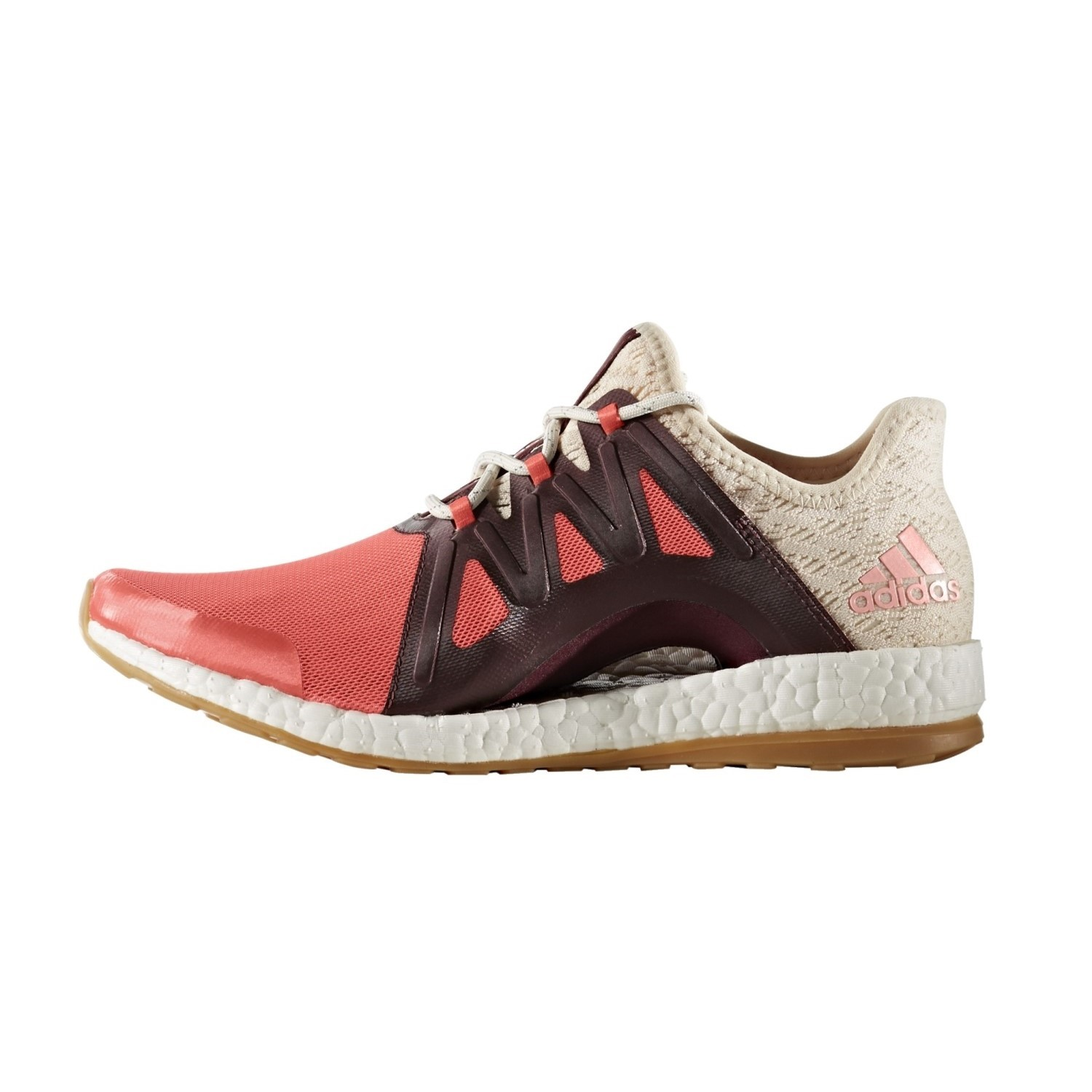 Adidas Pure Boost Xpose Clima - Womens Running Shoes - Easy Coral /Linen/Maroon