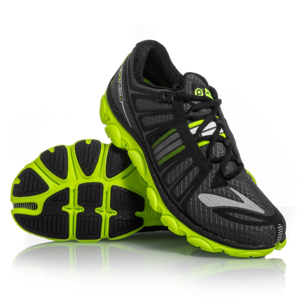 6ab6039f349 Brooks PureFlow 2 - Womens Running Shoes - Anthracite Black Yellow ...