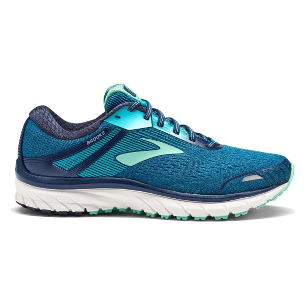 Brooks Adrenaline GTS 18 - Womens Running Shoes - Navy/Teal/Mint