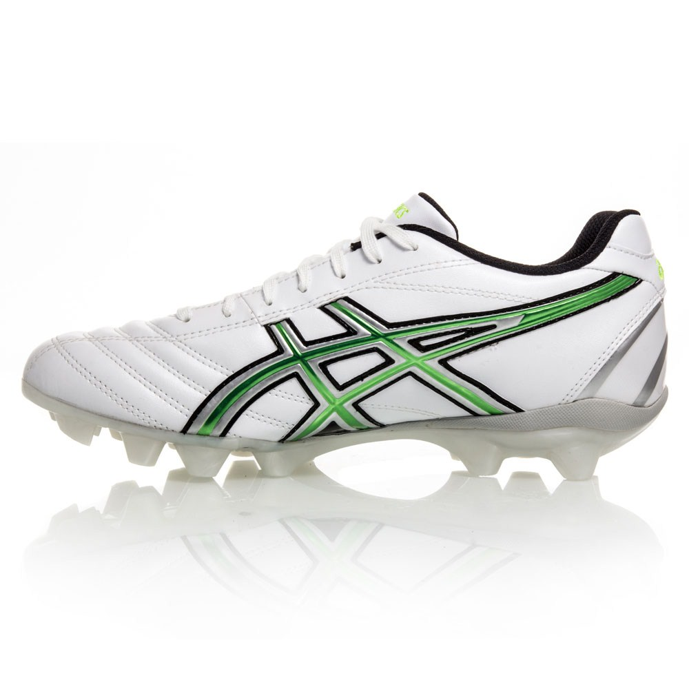 Asics Lethal RS - Mens Football Boots - White/Silver/Green