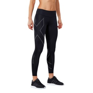 2XU MCS Run Womens Compression Tights - Black/Nero Reflective