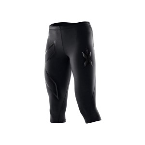 2XU Womens 3/4 Compression Tights - Black/Nero