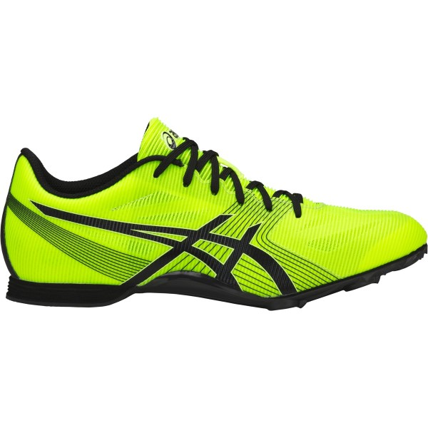 Asics Hyper MD 6 - Unisex Middle Distance Track Spikes - Safety Yellow/Black