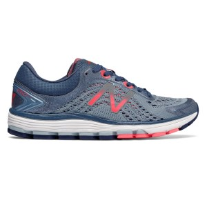 New Balance 1260v7 - Womens Running Shoes - Reflection Grey/Vintage Indigo/Vivid Coral