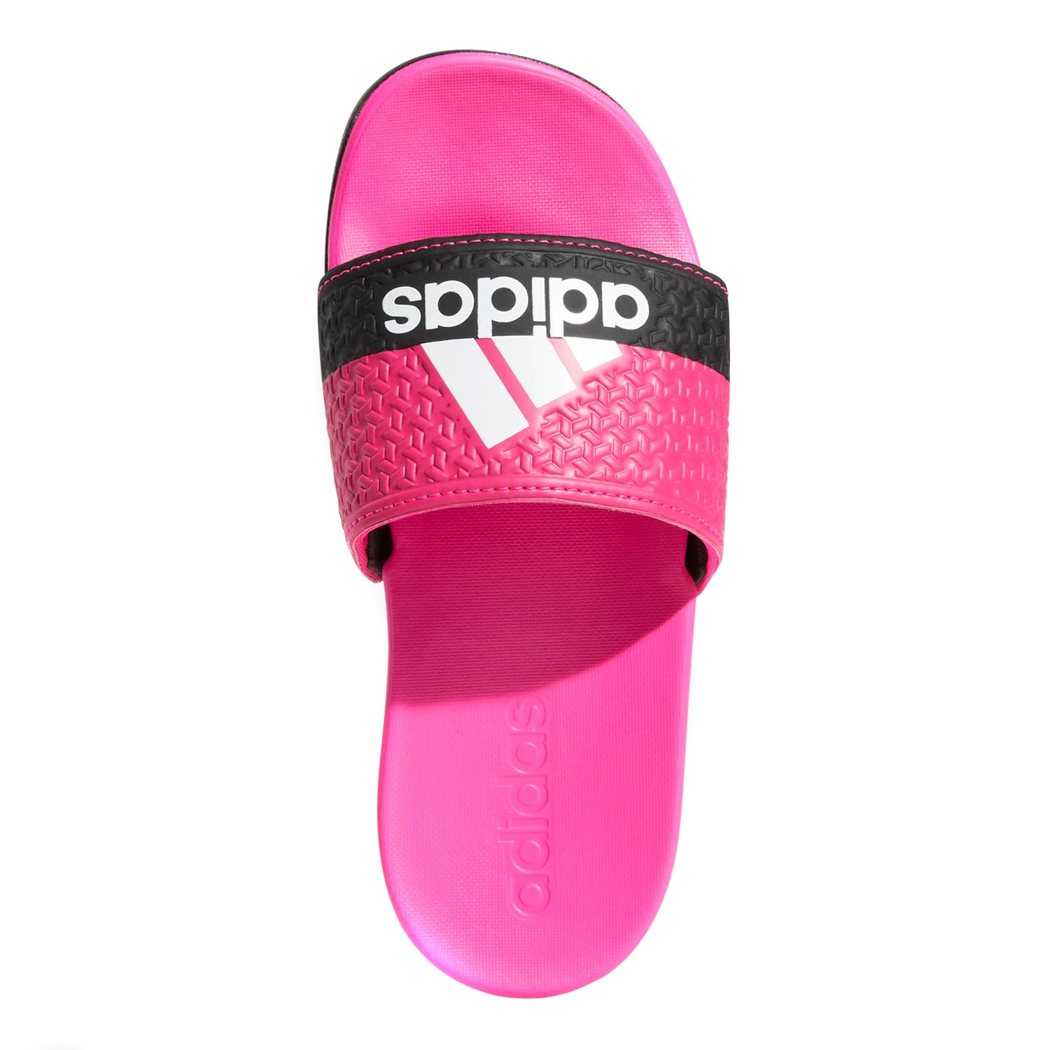 c17a41416c3f Adidas Adilette Comfort Slide - Kids Girls Casual Slide - Pink White Black