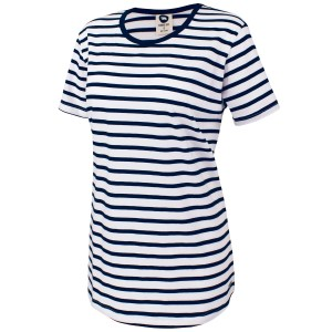Running Bare The Perfect Stripe Womens Crew Neck T-Shirt