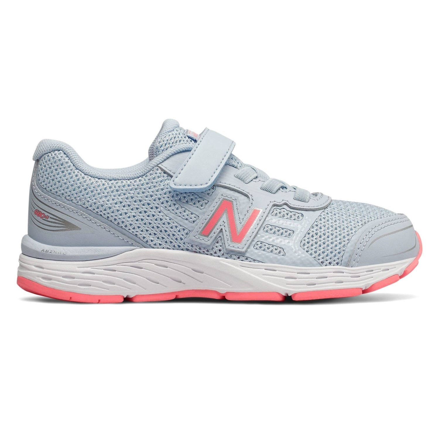 fc0778480260 New Balance 680v5 Velcro - Kids Girls Running Shoes - Air Blue Guava ...