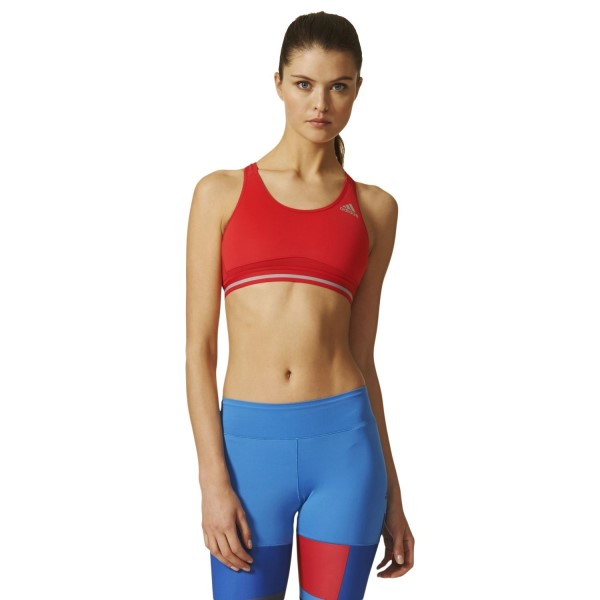 Adidas Techfit Chill Womens Sports Bra - Ray Red/Mid Grey