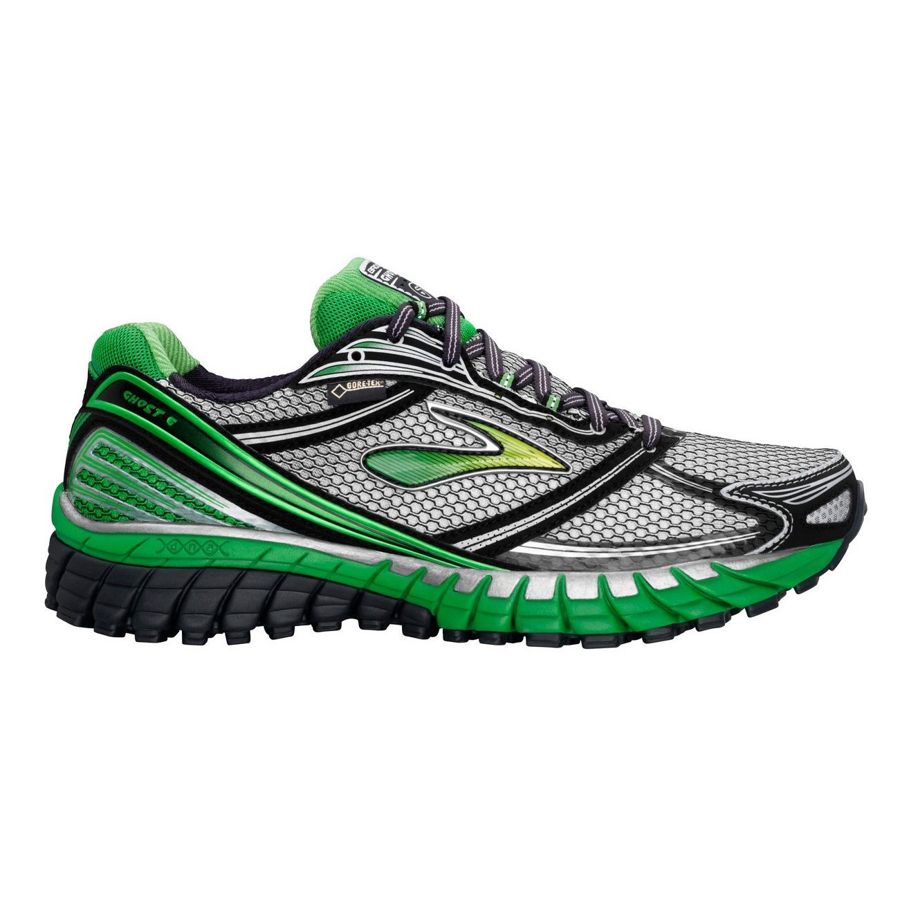 7192a2b87cfd3 Brooks Ghost 6 GTX - Mens Trail Running Shoes - Anthracite Black Silver