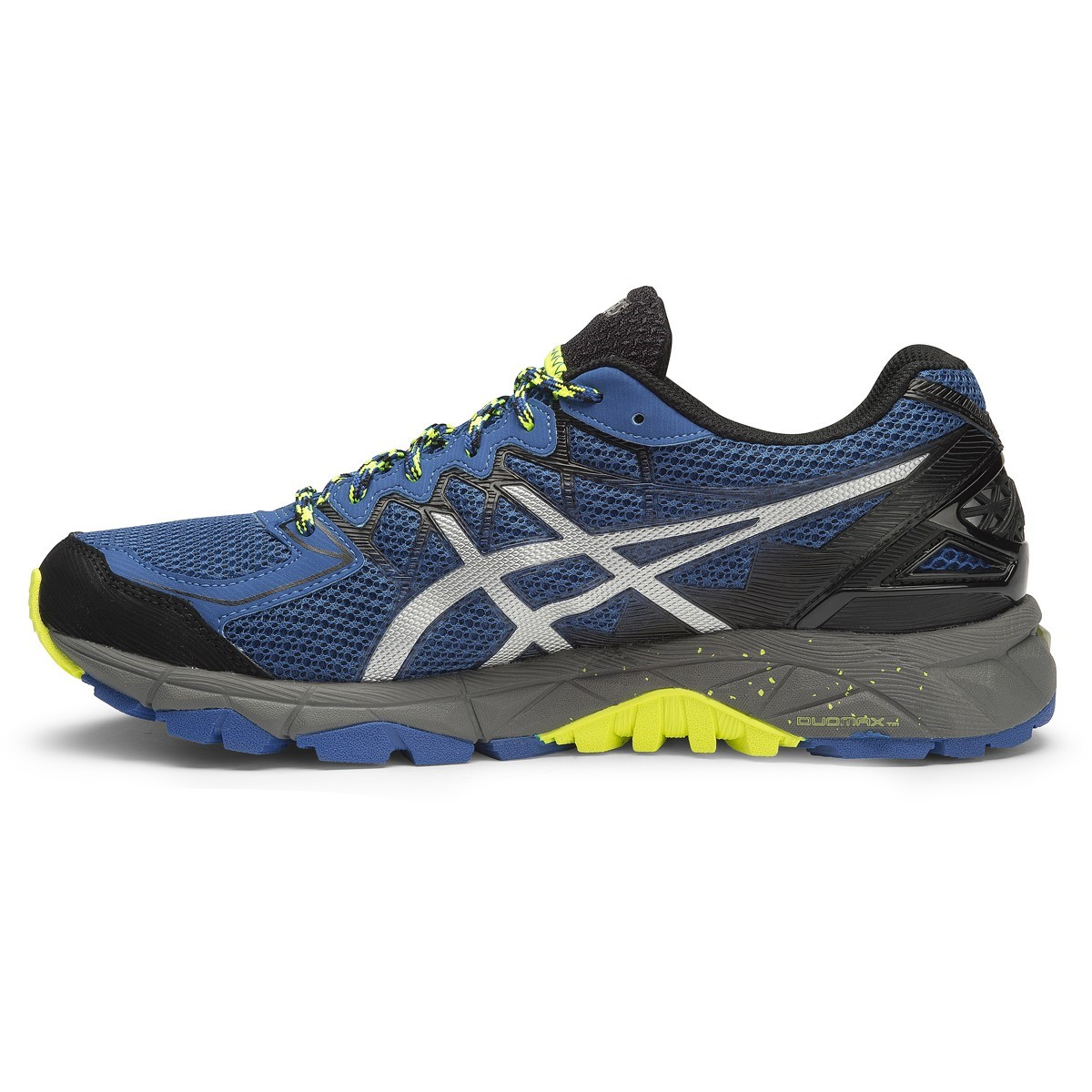 asics gel fuji trabuco 4 mens trail running shoes snorkel blue silver flash yellow online. Black Bedroom Furniture Sets. Home Design Ideas