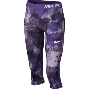 Nike Pro All Over Print Kids Girls Capri Training Tights