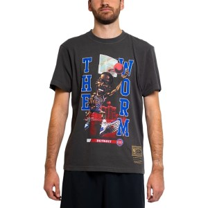 Mitchell & Ness Detroit Pistons Dennis Rodman Cartoon Series Mens Basketball T-Shirt