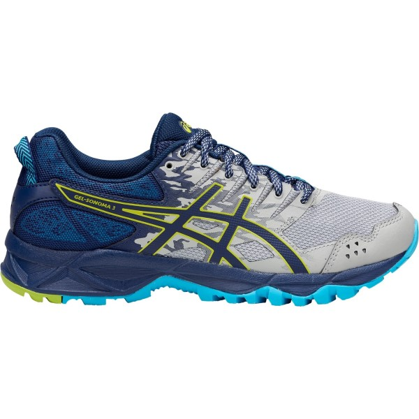 Asics Gel Sonoma 3 - Womens Trail Running Shoes - Mid Grey/Aquarium