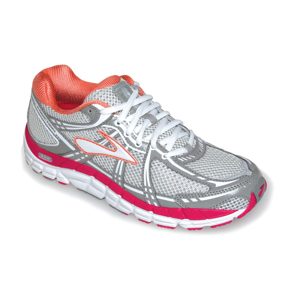 90a4da66c2b Brooks Addiction 11 - Womens Running Shoes - Lily White Raspberry Sorbet