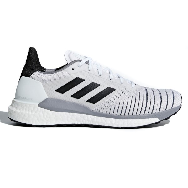 Adidas Solar Glide - Mens Running Shoes - White/Core Black/Grey