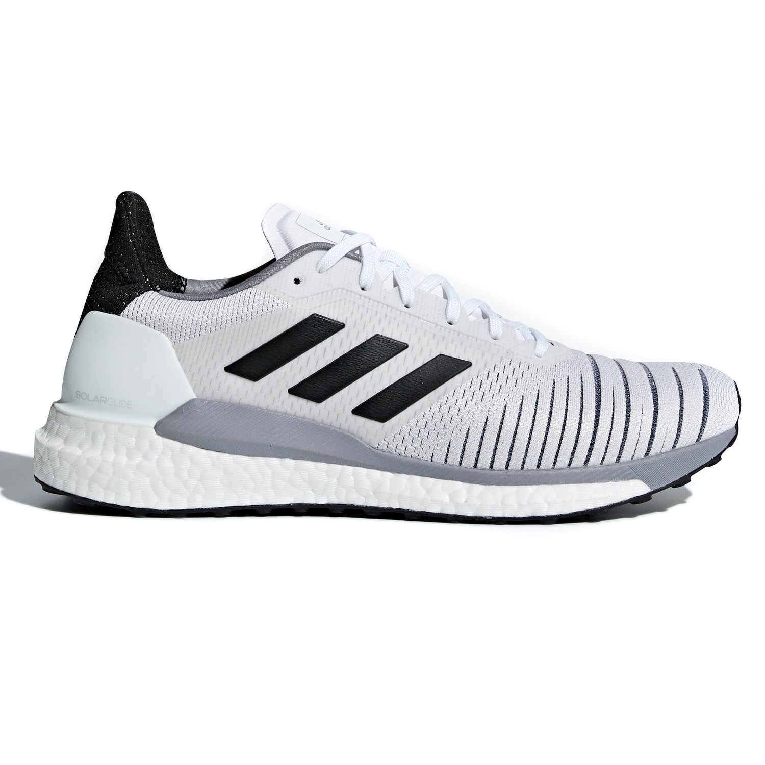 c2156bcb48b9c Adidas Solar Glide - Mens Running Shoes - White Core Black Grey ...