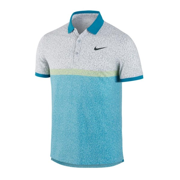 09b779da Nike Dri-Fit Touch Mens Tennis Polo Shirt - Blue/Green/Grey | Sportitude