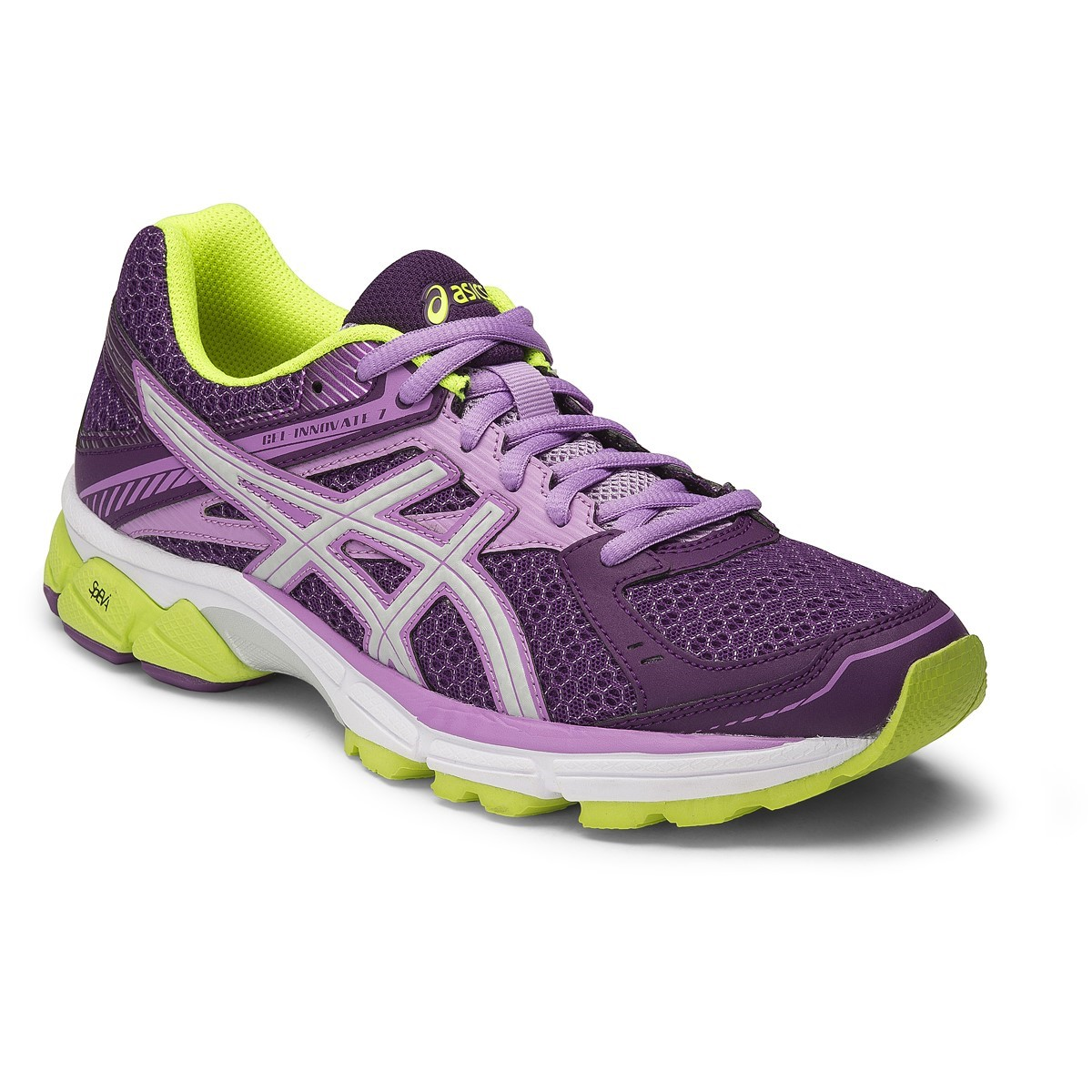 Asics Gel Innovate 7 - Womens Running Shoes - Purple/Silver/Flash Yellow