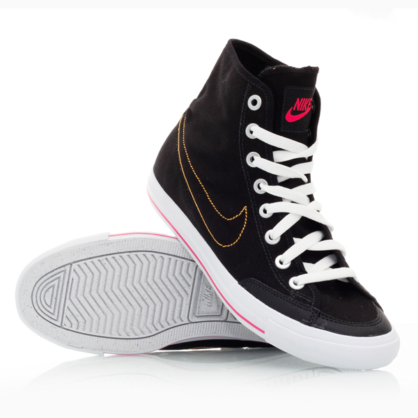 nike go mid canvas 001 womens casual shoes black