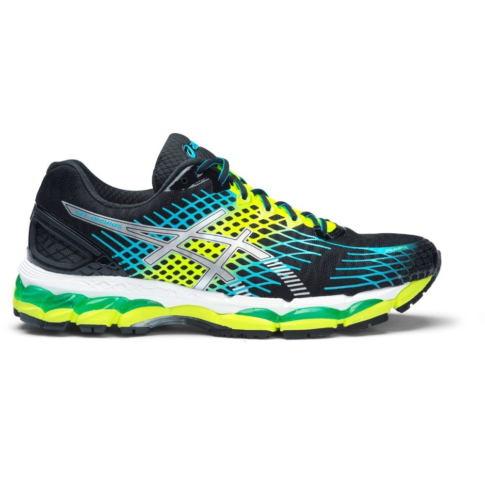 asics gel nimbus 17 mens running shoes onyx white flash yellow online sportitude. Black Bedroom Furniture Sets. Home Design Ideas