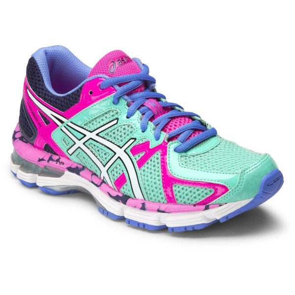 new arrivals 8aac0 a2689 Asics Gel Kayano 21 GS - Kids Girls Running Shoes - Aqua Mint White