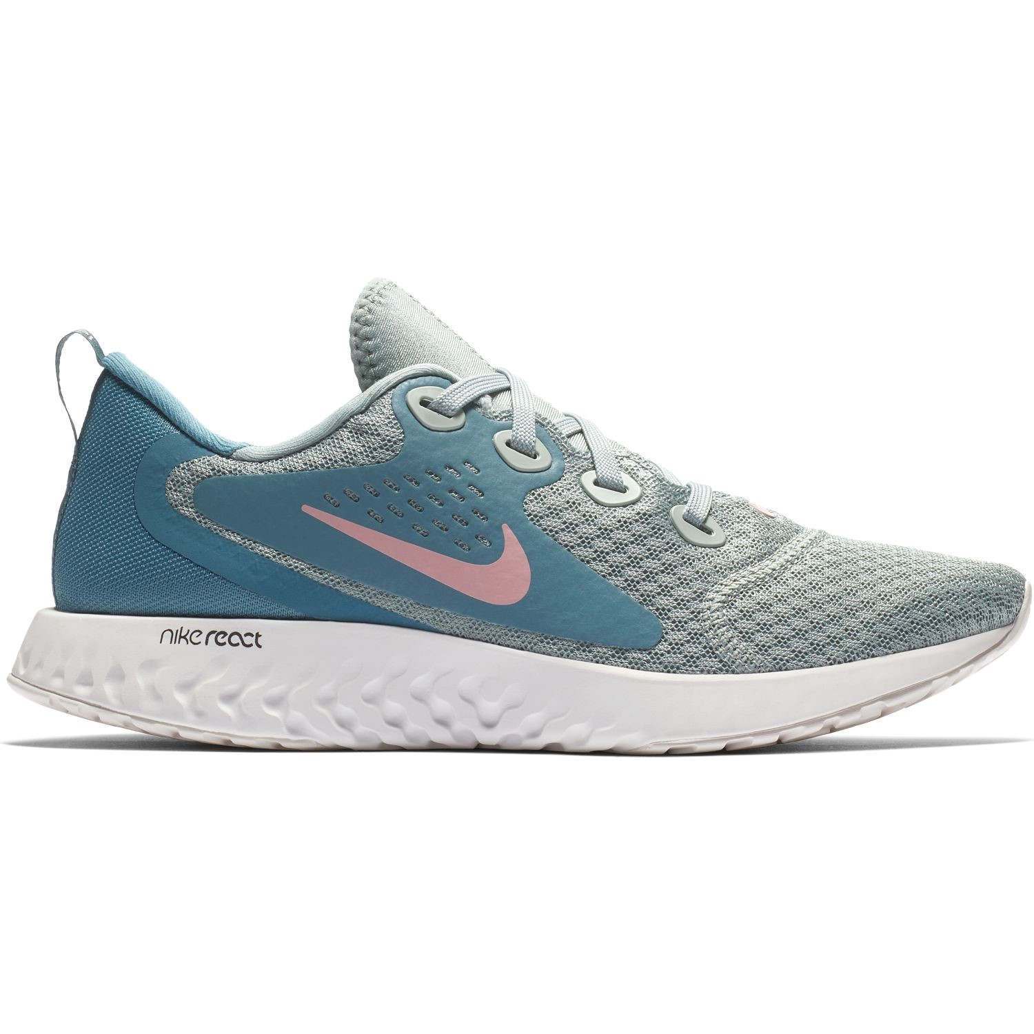 hot sale online c15ac 8688f Nike Legend React - Womens Running Shoes - Mica Green Celestial Teal Rust  Pink