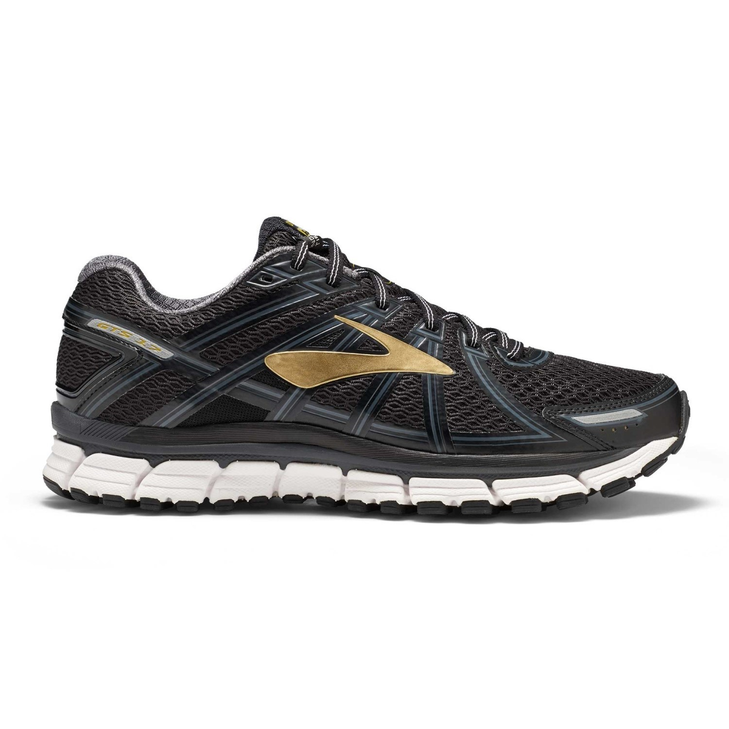 5133e4ad78 Brooks Adrenaline GTS 17 - Mens Running Shoes - Black/Anthracite/Gold