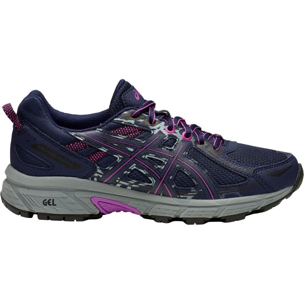 Asics Gel Venture 6 - Womens Trail Running Shoes - Peacoat/Orchid